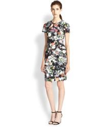 McQ by Alexander McQueen Floral-Print Stretch Cotton Dress - Lyst