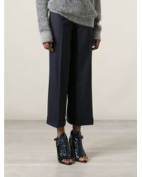 Tory Burch Flat Front Culottes - Lyst