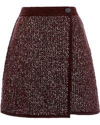 Sonia Rykiel Tweed Knit Skirt - Lyst