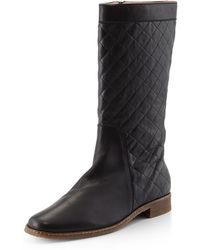 Andre Assous Gail Quilted Leather Boot - Lyst