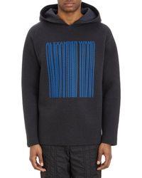 Alexander Wang Neoprene Hooded Sweatshirt - Lyst
