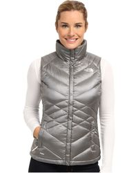 The North Face Gray Aconcagua Vest - Lyst