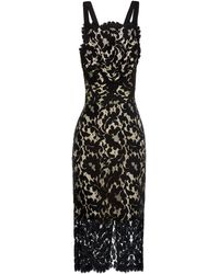 Lover Warrior French-Lace Midi Dress black - Lyst