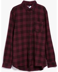Topman | Ls Buffalo Check Shirt | Lyst