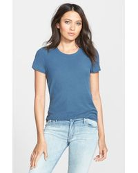 James Perse Crewneck Slub Knit Tee - Lyst