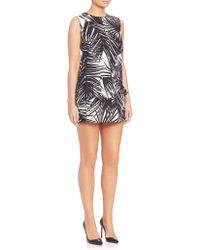 Marc Jacobs | Palm-print Peplum Dress | Lyst