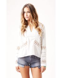 D.ra The Sonora Peasant Blouse - Lyst