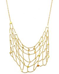 Sia Taylor - Rose Gold Seed Grid Necklace - Lyst