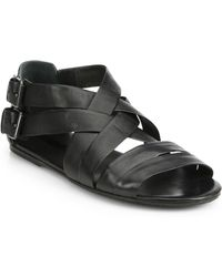 Marsell Woven Leather Sandals - Lyst