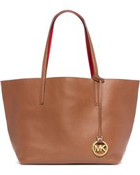 Michael Kors Izzy Large Reversible Leather Tote - Lyst