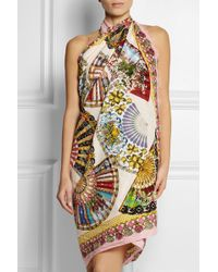 Dolce & Gabbana Printed Cotton-Voile Pareo - Lyst