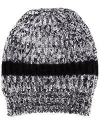 Rochas - Knitted Stripe Beanie - Lyst