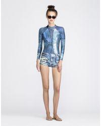 Cynthia Rowley Denim Wetsuit blue - Lyst