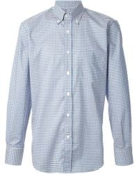 Canali Checked Button Down Shirt - Lyst