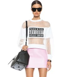 Alexander Wang Parental Advisory Viscose-blend Sweatshirt - Lyst