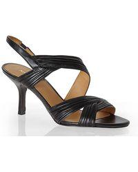 Nine West Black Beaulah Strappy Sandals - Lyst