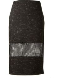 Jonathan Simkhai Fishnet Flecked Pencil Skirt - Lyst
