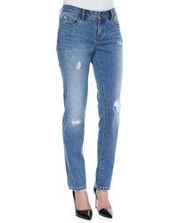 Christopher Blue Soft Vintage Distressed Diane Boyfriend Jeans - Lyst