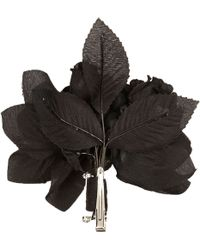 River Island Black Flower Hair Clip And Brooch black - Lyst