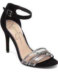Jessica Simpson Jessies Color-Block High-Heel Sandals - Lyst