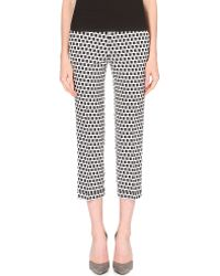 Etro Geometric-print Stretch-crepe Trousers - Lyst
