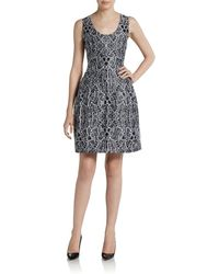 Prabal Gurung Printed Fit Flare Dress - Lyst