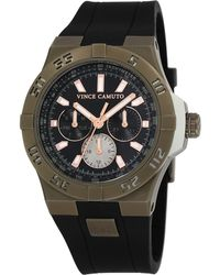 Vince Camuto - Men'S Black Silicone Strap Watch 43Mm Vc/1010Bkkh - Lyst