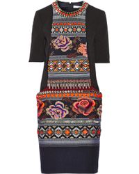 Matthew Williamson Embellished Matelassã and Jacquard Dress - Lyst