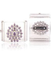 Vara Of London - The Silver Fleur De Chine Cuff - Lyst