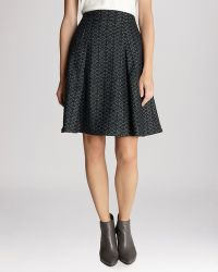 Karen Millen Skirt - Metallic Jacquard Collection Pleated - Lyst
