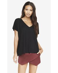 Express One Size Deep V-neck Tee - Lyst