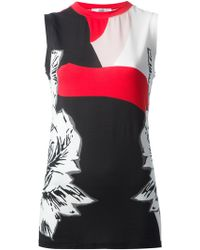Prabal Gurung Fitted Floral Vest Top - Lyst