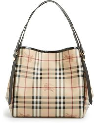 Burberry 'Haymarket Check - Small Canterbury' Tote - Lyst