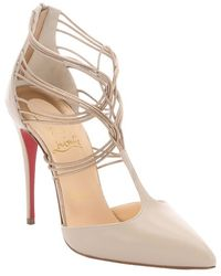 Christian Louboutin Colombe Leather 'Confusa 100' Strappy Pumps - Lyst