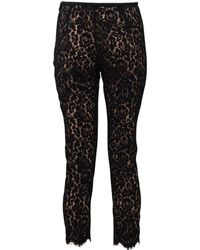 Michael Kors Floral Lace Skinny Pant black - Lyst