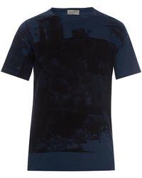 Yohji Yamamoto Abstract-Print Cotton T-Shirt - Lyst