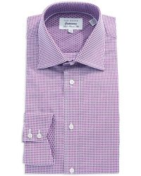 Ted Baker Classic Fit Patterned Dress Shirt - Lyst