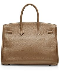 Heritage Auctions Special Collection Hermes 35cm Etoupe Clemence Birkin - Lyst