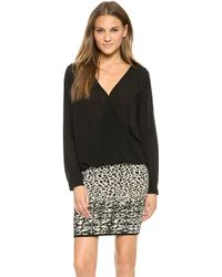 Velvet By Graham & Spencer Joon Blouse Black - Lyst