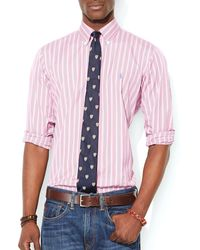 Ralph Lauren Polo Multistriped Shirt  Slim Fit - Lyst