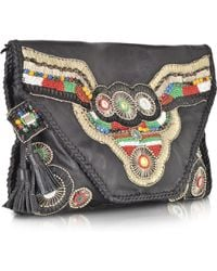 Antik Batik Buffalo Black Wallet Clutch - Lyst