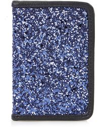 TOPSHOP - Glitter Oyster Card Holder - Lyst