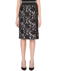 Clover Canyon Floral-embroidered Pencil Skirt - Lyst