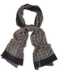 Dior Oblong Silk Scarf gray - Lyst