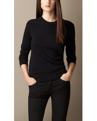 Burberry Cashmere Needlepunch Sweater - Lyst