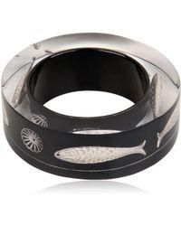 Nicholas King - Black Fish Bangle Bracelet - Lyst