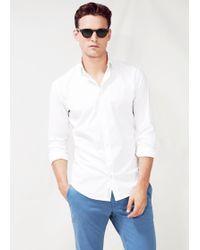 Mango Slim Fit Cotton Shirt - Lyst