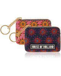 House of Holland Polka Flower Coin Purse multicolor - Lyst