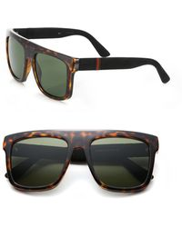 Gucci | 55mm Flat-top Injected Sunglasses | Lyst