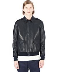 Maxwell Snow - Deer Leather Bomber Jacket - Lyst